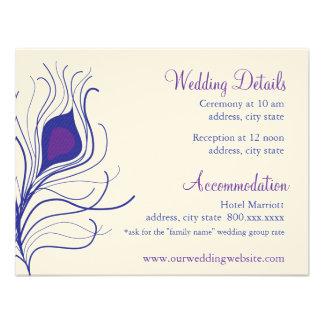 Tarjeta de detalles de la recepción invitaciones personales