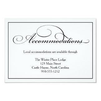 Tarjeta de detalles de los alojamientos del boda