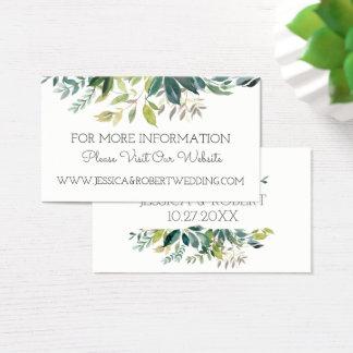 Tarjeta de detalles del Web site del boda del ramo
