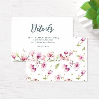 Tarjeta de detalles floral elegante de la magnolia