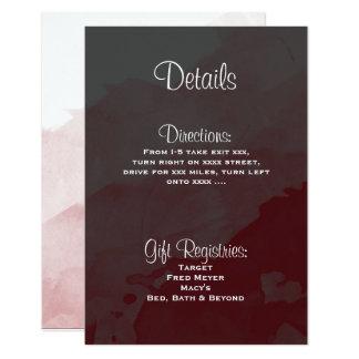 Tarjeta de detalles gris y marrón de la invitación