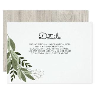Tarjeta de detalles rústica de las puntillas del invitación 8,9 x 12,7 cm