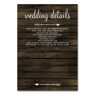 tarjeta de detalles rústica floral de madera del