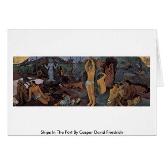 Tarjeta ¿De dónde venimos? Por Paul Gauguin