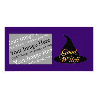 Tarjeta de encargo de la foto de Halloween de la b Tarjetas Con Fotos Personalizadas