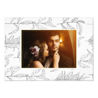 Tarjeta de encargo de la foto del boda invitación 12,7 x 17,8 cm