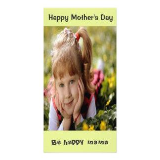 Tarjeta de encargo de la foto del día de madre tarjeta personal con foto