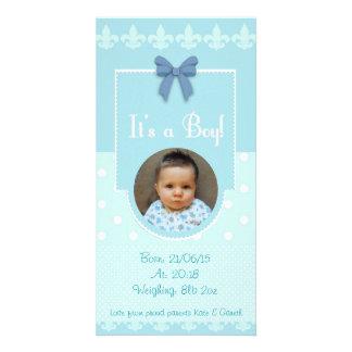 Tarjeta de encargo de la invitación del nacimiento tarjeta con foto personalizada