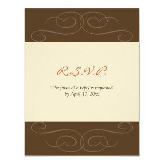 Tarjeta de encargo de la respuesta de la caída invitación 10,8 x 13,9 cm