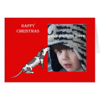 Tarjeta de encargo de las felices Navidad con el