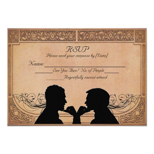 Tarjeta de encargo de RSVP de la ceremonia del com Invitación Personalizada