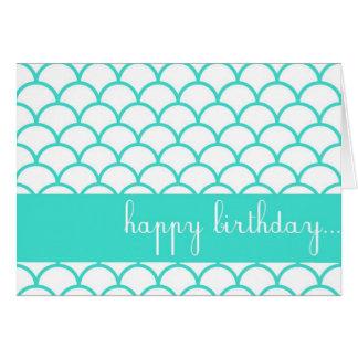 Tarjeta de encargo del feliz cumpleaños del borde