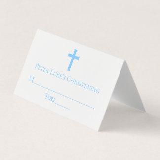 Tarjeta de encargo del lugar del bautismo cruzado