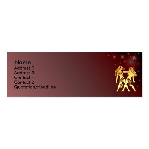 Tarjeta de encargo del perfil de la muestra del zo plantillas de tarjetas de visita
