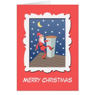 Tarjeta de encargo opcional de la foto - Santa