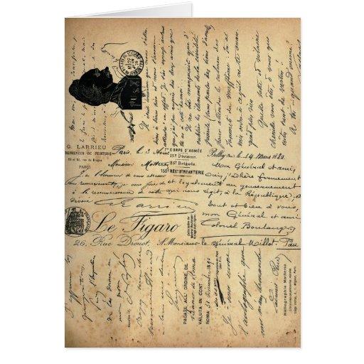 Tarjeta de escritura del vintage