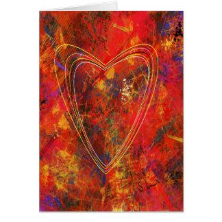 Tarjeta de felicitación abstracta del amor
