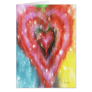 Tarjeta de felicitación abstracta del corazón
