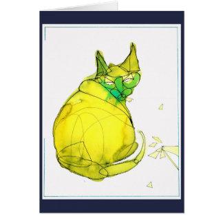 Tarjeta de felicitación abstracta del gato