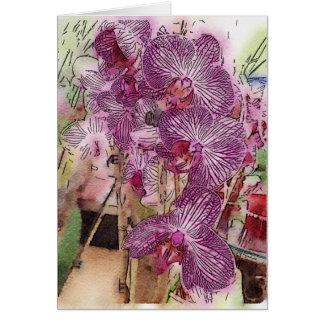 Tarjeta de felicitación adaptable de las orquídeas