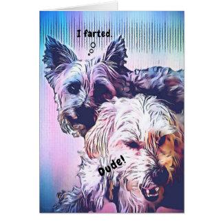 Tarjeta de felicitación adaptable de los perros