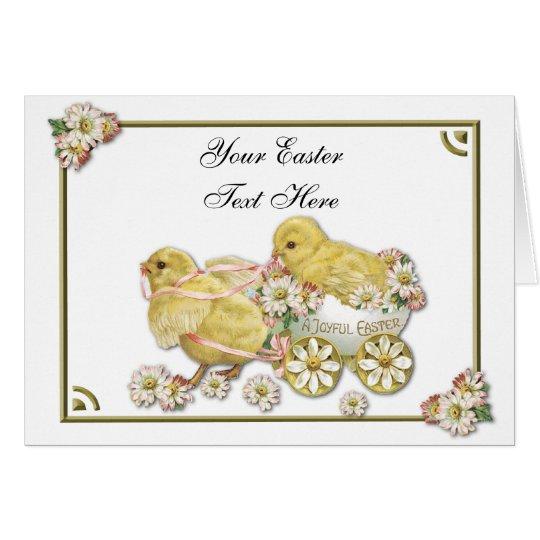 Tarjeta de felicitación adaptable de los polluelos