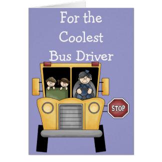 Tarjeta de felicitación adaptable del conductor
