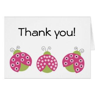 Tarjeta de felicitación adorable de la mariquita