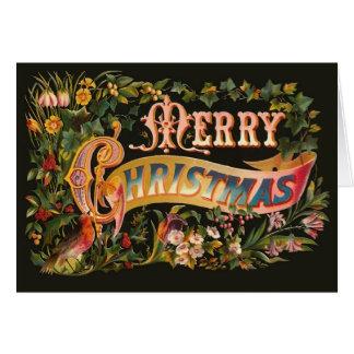 Tarjeta de felicitación adornada del navidad del