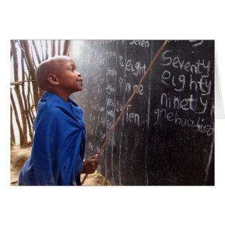Tarjeta de felicitación africana del profesor