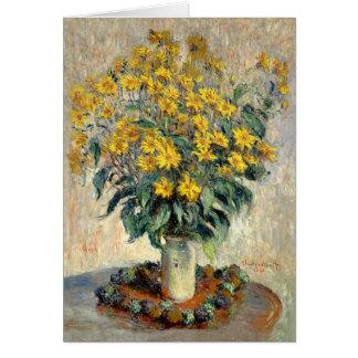 Tarjeta de felicitación, alcachofa de Claude Monet