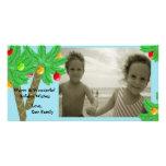 Tarjeta de felicitación alegre de la foto de los á tarjetas personales con fotos