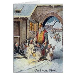 Tarjeta de felicitación alemana del navidad del