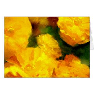 Tarjeta de felicitación amarilla del arte de la