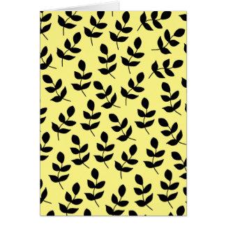 Tarjeta de felicitación amarilla y negra vibrante