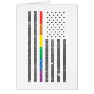 Tarjeta de felicitación americana de la bandera