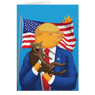 Tarjeta de felicitación americana de la catástrofe