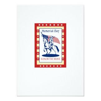 Tarjeta de felicitación americana del poster del invitación 13,9 x 19,0 cm