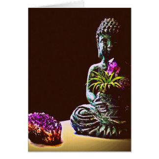 Tarjeta de felicitación Amethyst de Buda