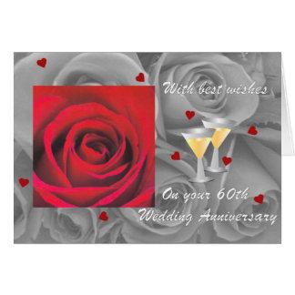 tarjeta de felicitación aniversary del boda de dia