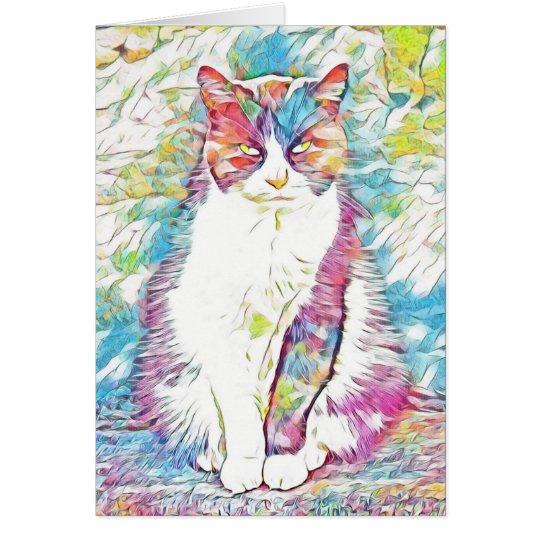 Tarjeta de felicitación artsy abstracta colorida