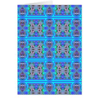 Tarjeta de felicitación azul bonita del espacio en