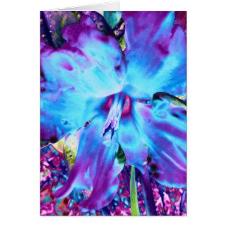 Tarjeta de felicitación azul del narciso