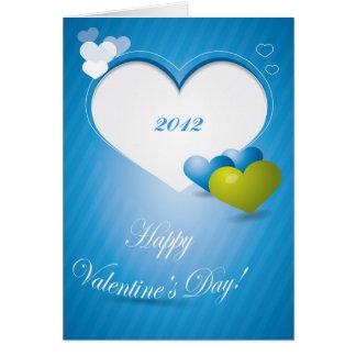 Tarjeta de felicitación azul Editable del el día d