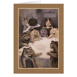 """Tarjeta de felicitación banquete del gato"""" de los"""