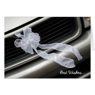 Tarjeta de felicitación blanca del arco del boda