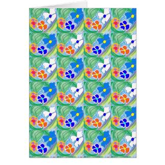 Tarjeta de felicitación blanca y anaranjada azul l