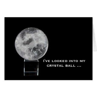 Tarjeta de felicitación: Bola de cristal