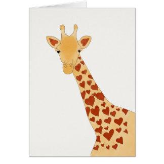 Tarjeta de felicitación (brillante) de la jirafa