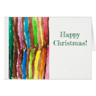 Tarjeta de felicitación brillante del navidad del